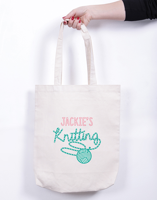 mothers-day: Personalised Knitting Tote Bag!