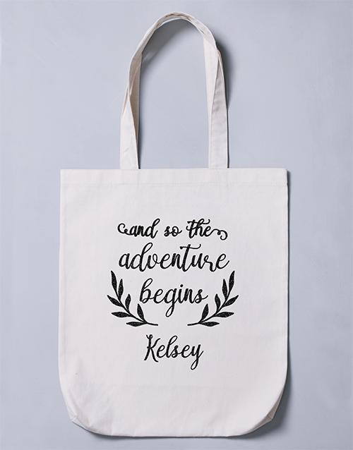 personalised: Personalised Adventure Begins Tote Bag!