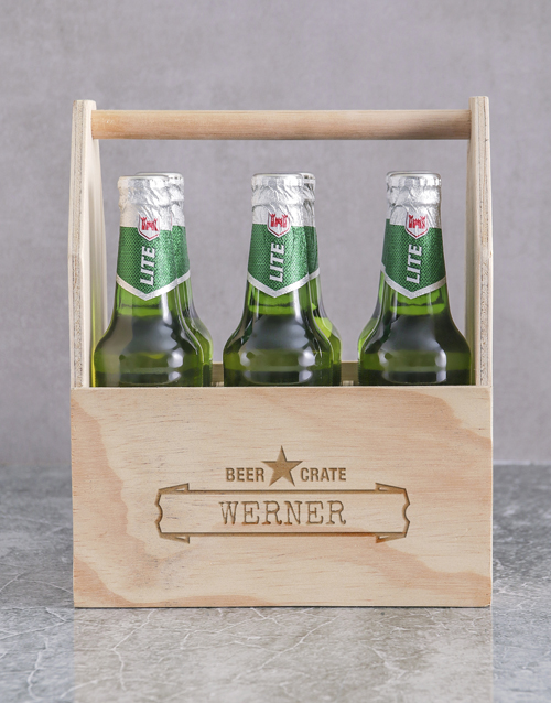 birthday: Personalised Six Pack Man Crate!
