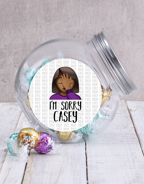 personalised: Personalised Sorry Candy Jar!