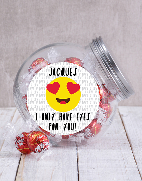 personalised: Personalised Eyes For You Candy Jar!