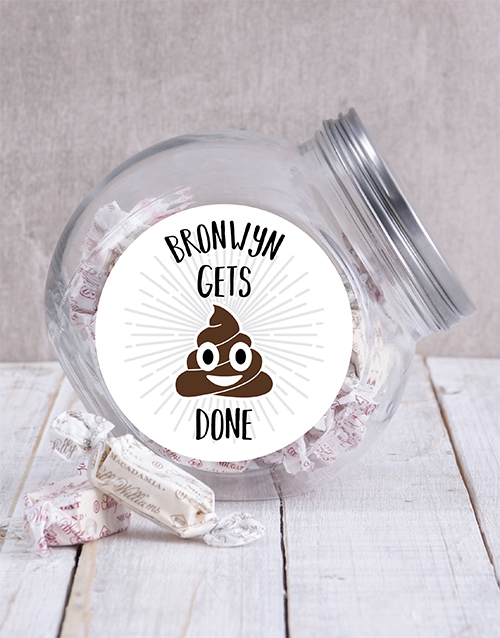 candy-jars: Personalised Gets It Done Candy Jar!