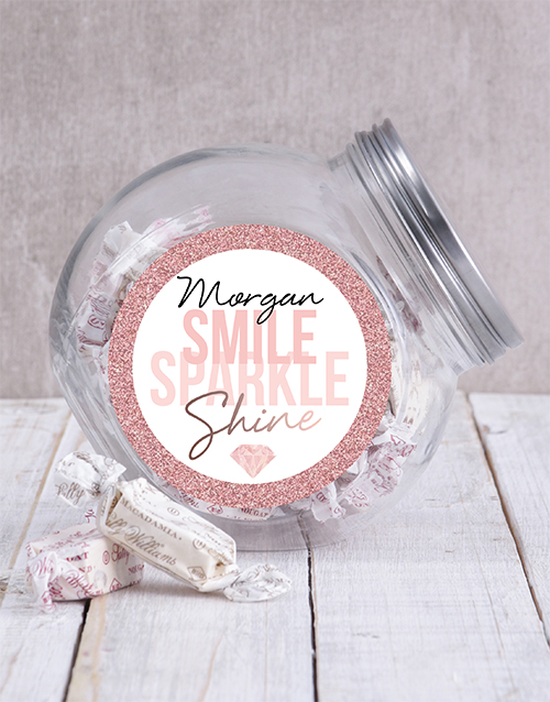 personalised: Personalised Smile Sparkle Candy Jar!
