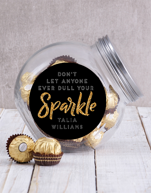 candy-jars: Personalised Sparkle Candy Jar!
