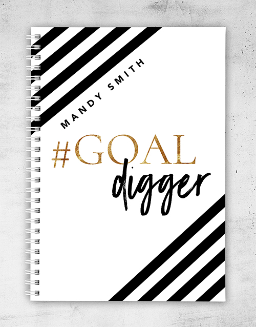 secretarys-day: Personalised Goal Digger Notebook!