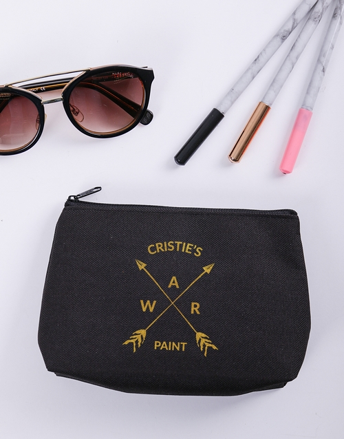 personalised: Personalised War Paint Cosmetic Bag!