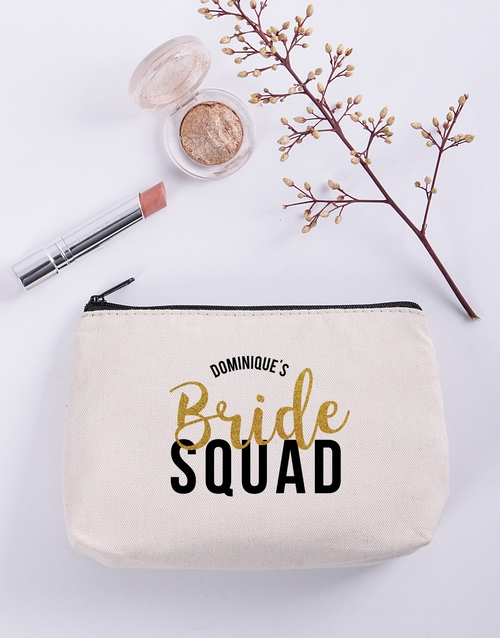 personalised: Personalised Bridesmaid Cosmetic Bag!