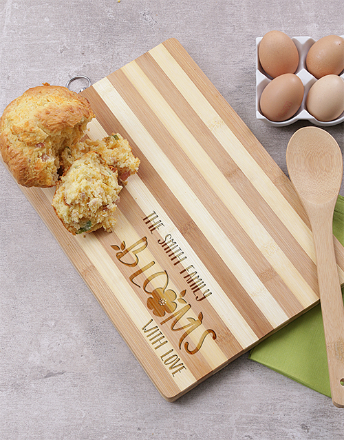 personalised: Personalised Family Blooms Chopping Board!