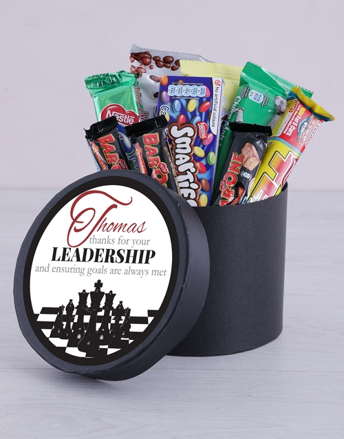 personalised: Personalised Leadership Choc Hat Box!