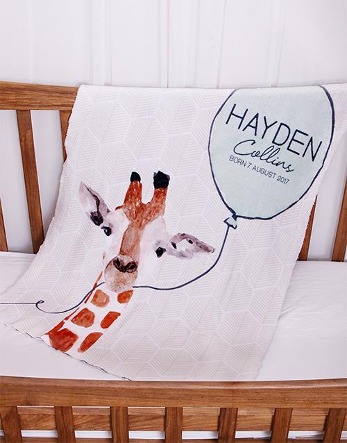 baby: Personalised Animal Baby Fleece Blanket!