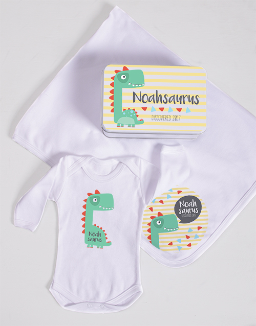 baby: Personalised Saurus Spoils Gift!