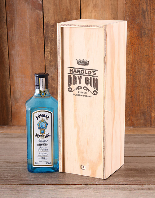 fine-alcohol: Personalised Dry Gin Booze Crate!