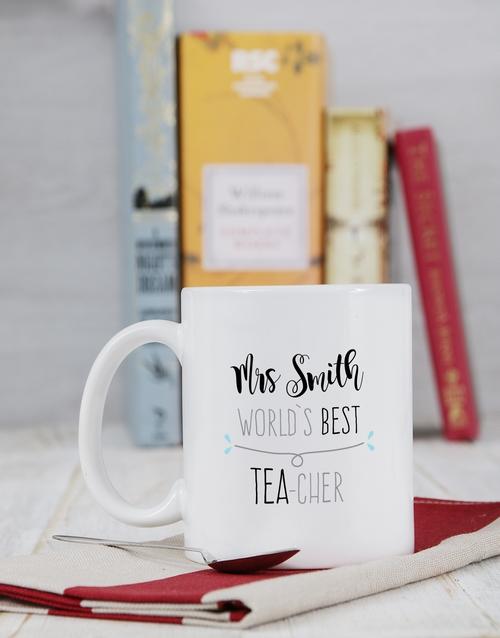 personalised: Personalised Best Teacher Mug!