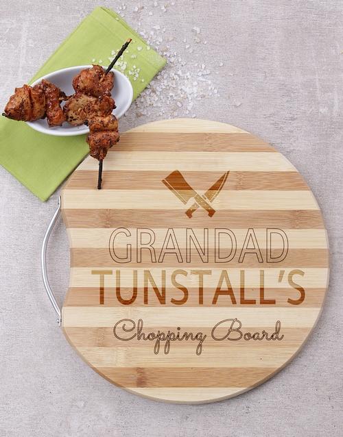 personalised: Personalised Grandad Chopping Board!