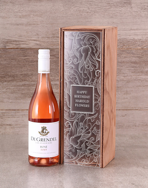 mothers-day: Personalised Perspex Lid Wine Crate!