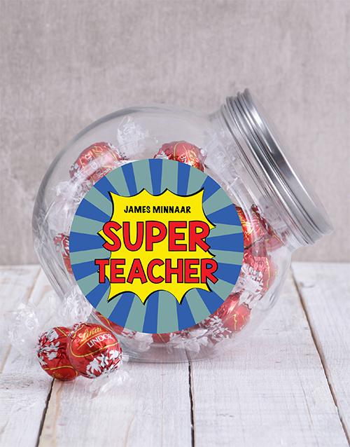 personalised: Personalised Super Teacher Candy Jar!