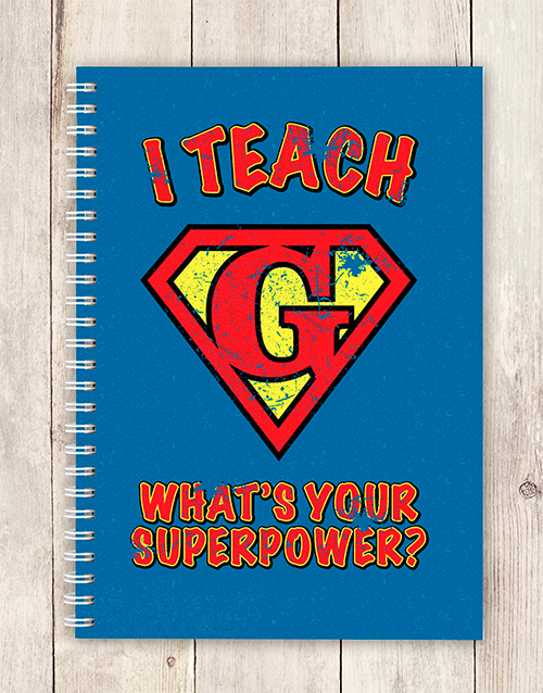 teachers-day: Personalised Super Power Notebook!