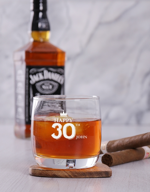personalised: Personalised Make a Wish Whiskey Glass!
