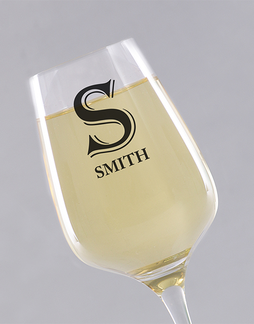 personalised: Personalised Initial Wine Glass!