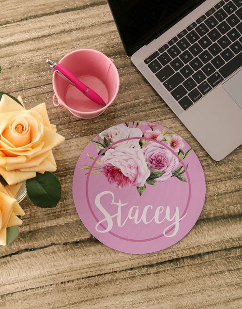 personalised: Personalised Roses Mouse Pad!