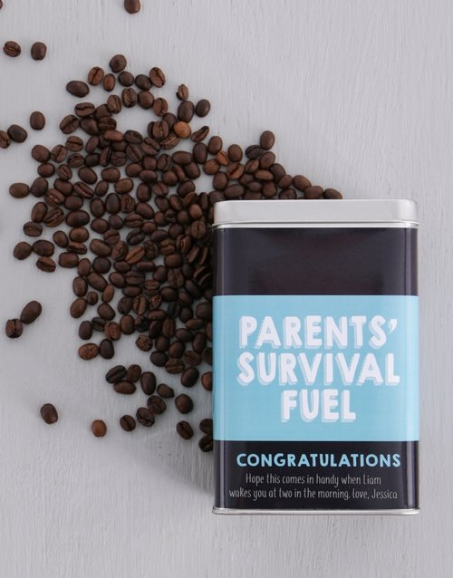 mothers-day: Personalised Parents Survival Coffee Tin!
