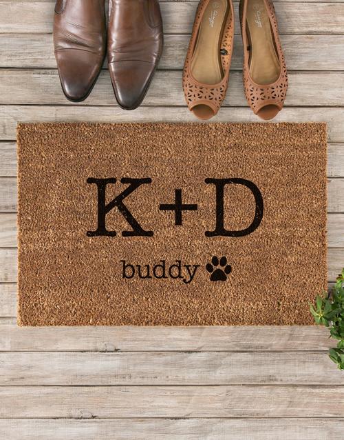personalised: Personalised Paw Print Doormat!