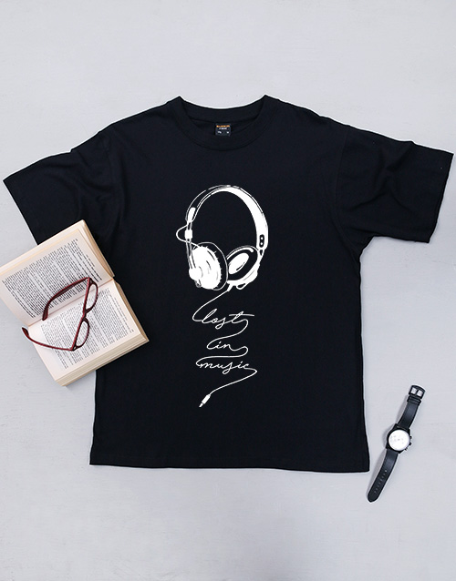 clothing: Personalised No Music T Shirt!