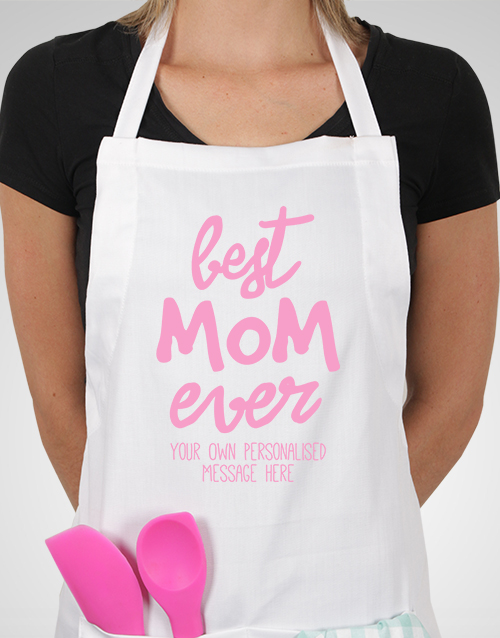 mothers-day: Personalised Best Mom Ever Apron!
