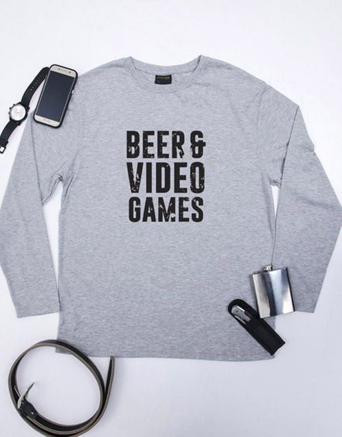 clothing: Personalised Beer and Video Games T Shirt!