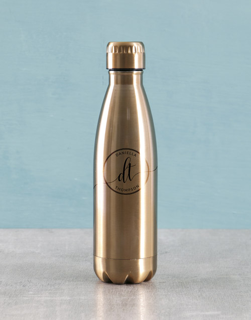 personalised: Personalised Initials Water Bottle!