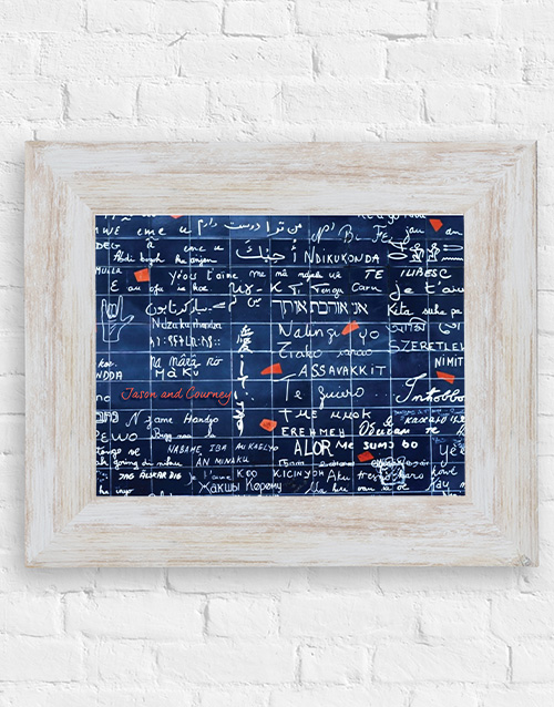 personalised: Personalised Love Formula Wall Frame!