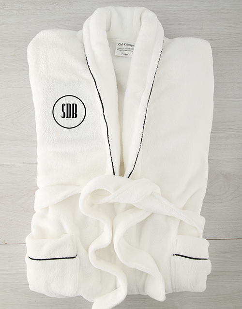 bath-and-body: Personalised Circle Monogram Fleece Gown!