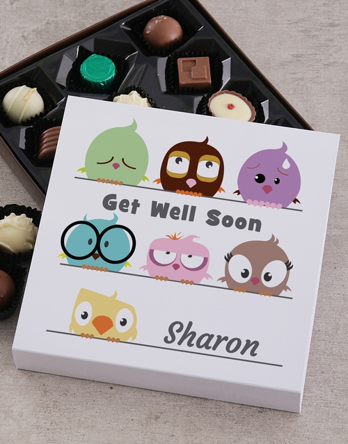 personalised: Personalised Get Well Chocolate Tray!