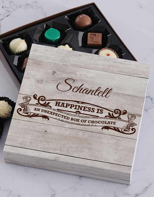corporate: Personalised Happiness Chocolate Tray!