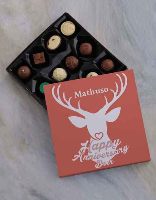 anniversary: Personalised Anniversary Chocolate Tray!
