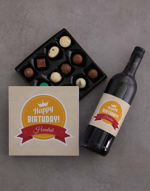 personalised: Personalised Birthday Chocolate Tray!