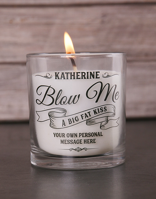 personalised: Personalised Blow Me a Kiss Candle!
