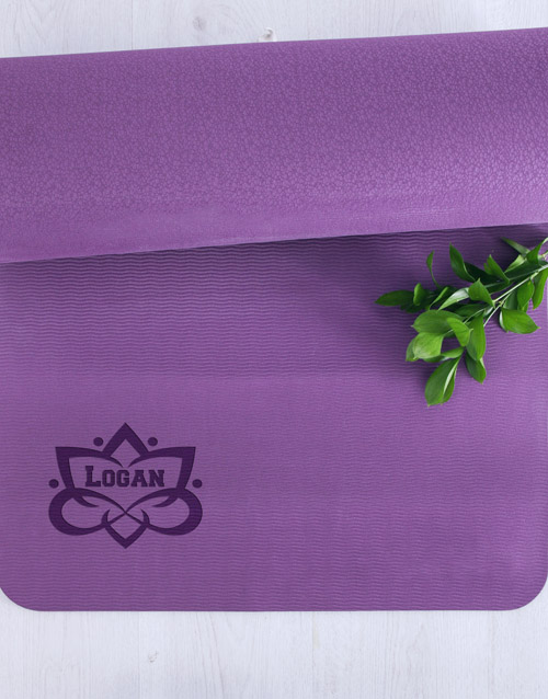 personalised: Personalised Lotus Flower Yoga Mat!