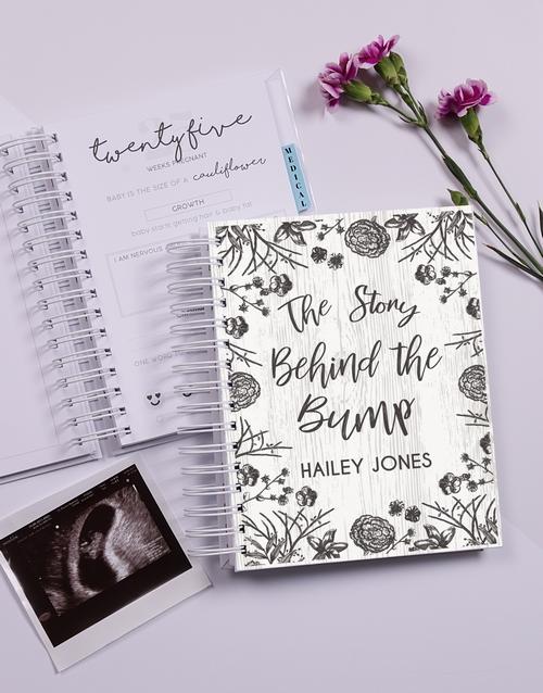 personalised: Personalised Floral Sketch Pregnancy Journal!
