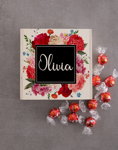 mothers-day: Personalised Wooden Floral Box!