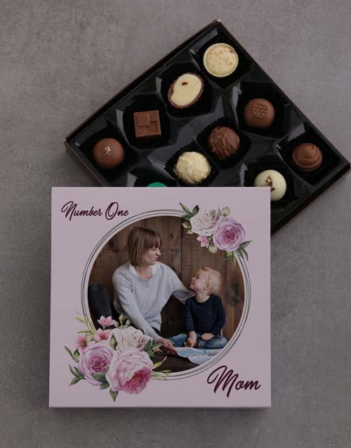mothers-day: Personalised Number One Mom Chocolate Tray!