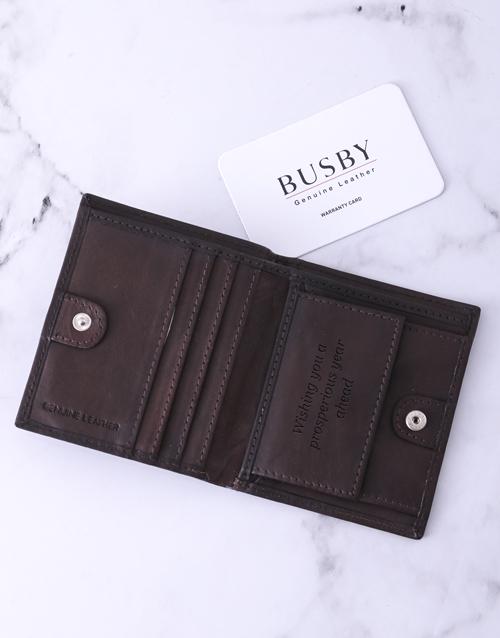 personalised: Personalised Brown Busby Gents Wallet!