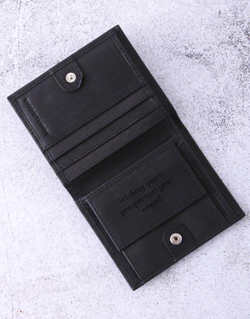 personalised: Personalised Busby Pygmy Black Bilfold Wallet!