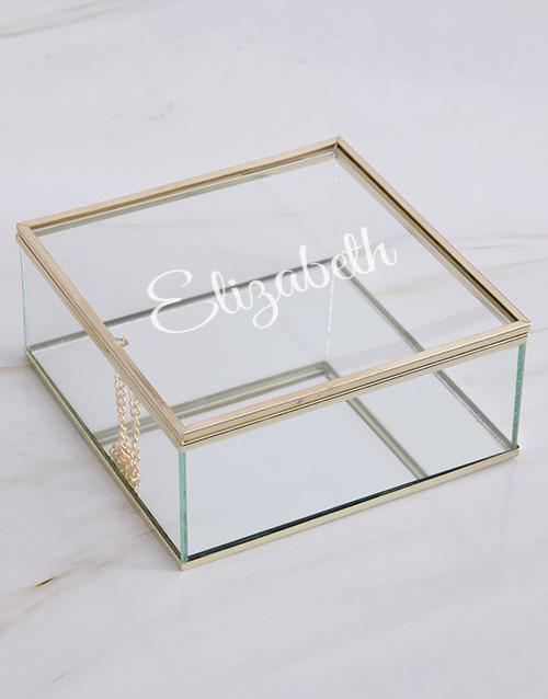 personalised: Personalised Glass Trinket Box!