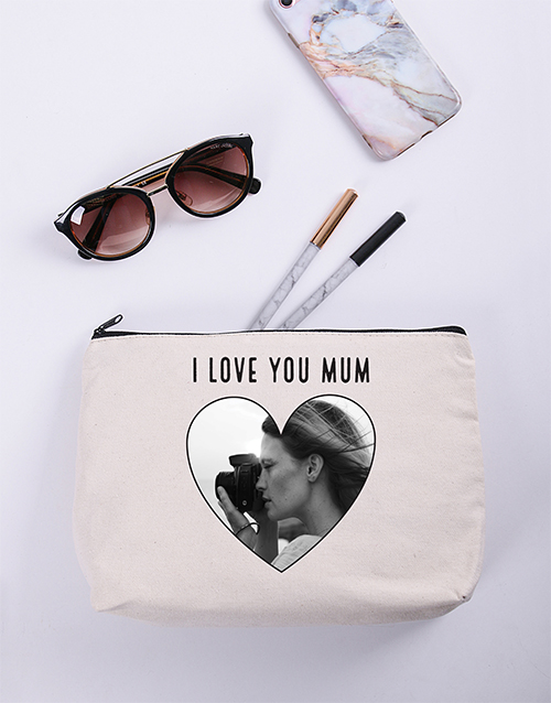 personalised: Personalised Heart Photo Cosmetic Bag!