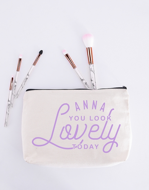 mothers-day: Personalised You Look Lovely Cosmetic Bag!