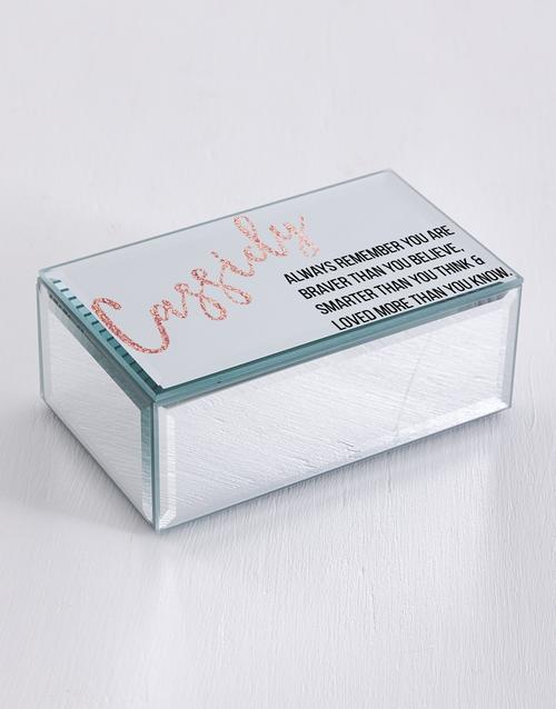 personalised: Personalised Remember Mirror Trinket Box!
