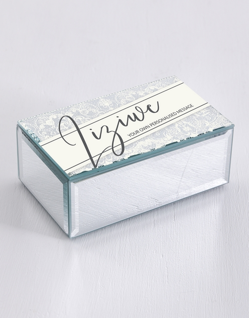 mothers-day: Personalised Lace Mirror Trinket Box!