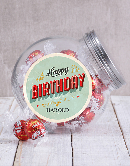 birthday: Personalised Birthday Candy Jar!