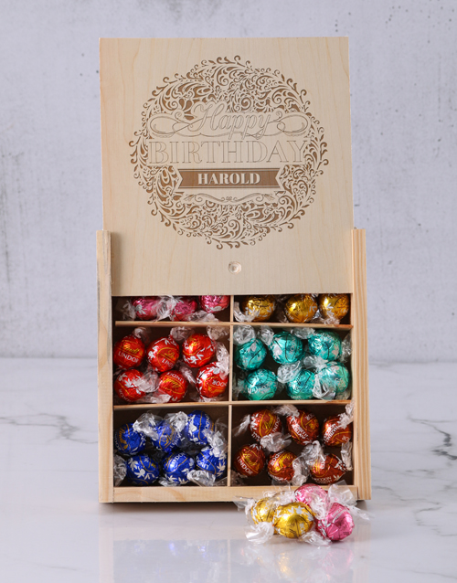 personalised: Personalised Birthday Bliss Lindt Box!
